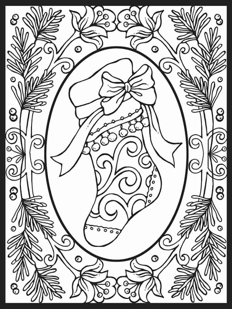 Adult Christmas Coloring Pages Free Printable Adult Christmas Coloring Pages