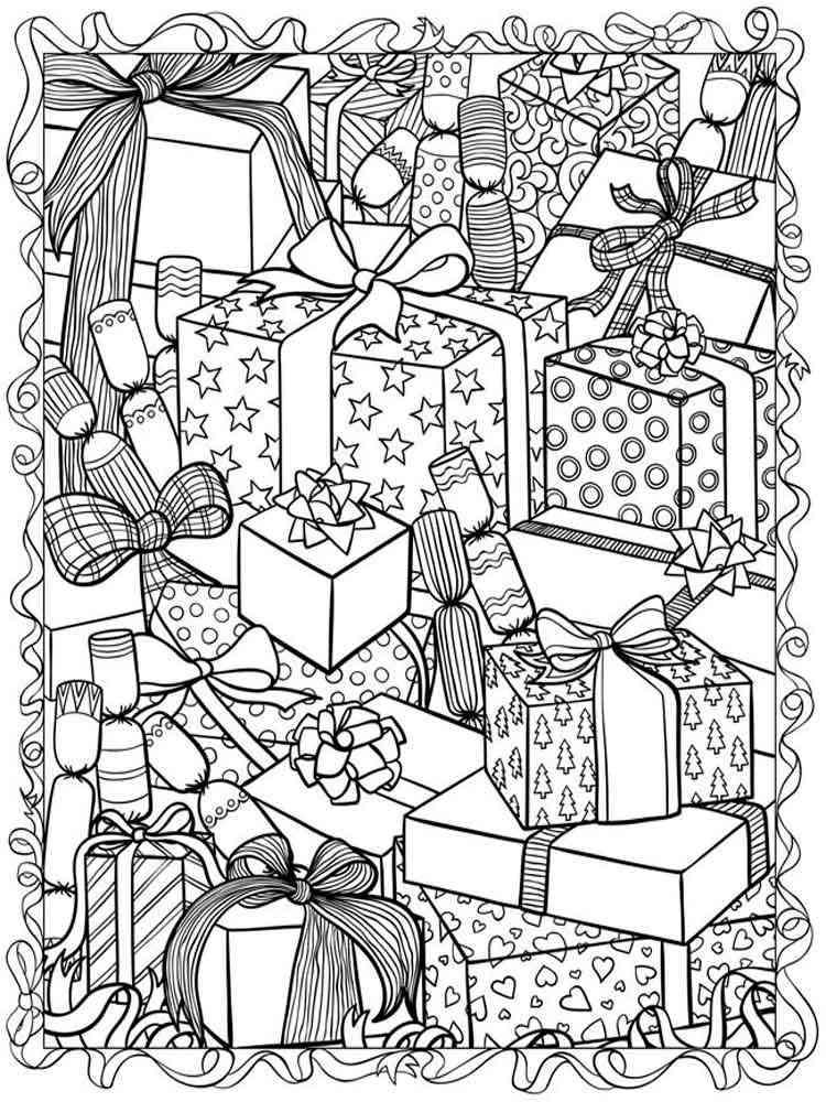 Антистресс раскраска рождество