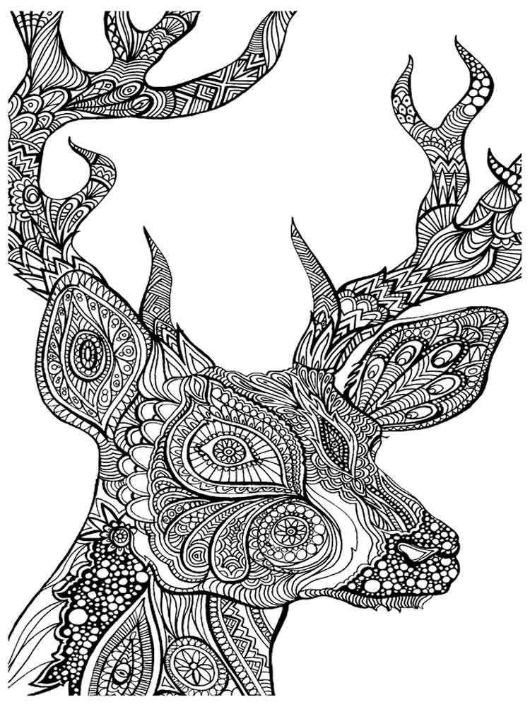 Adult Christmas coloring pages. Free Printable Adult ...
