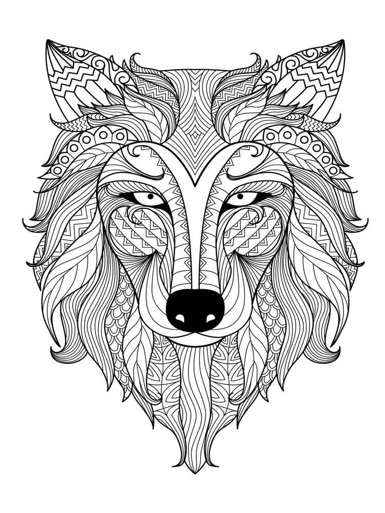 Animals coloring pages for Adults. Free Printable Animals ...