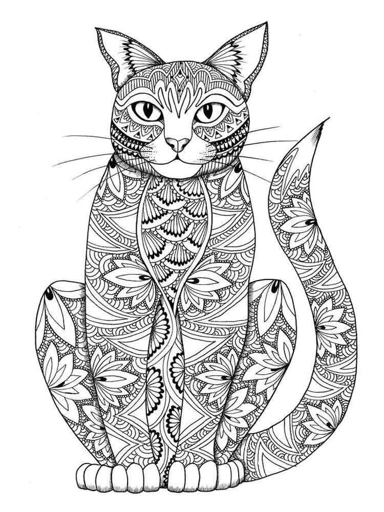 Animals coloring pages for adults free printable animals for Adult color pages