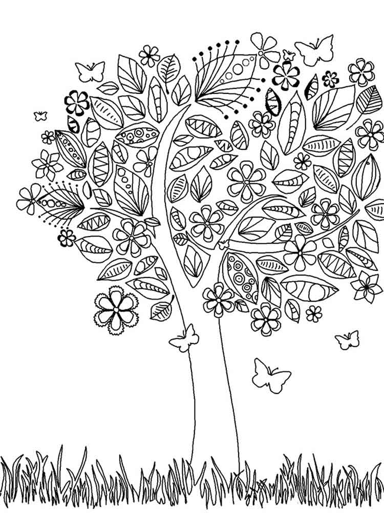 ... adult-coloring-pages-tree-10 ...