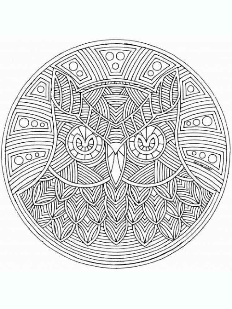 Animal mandala coloring pages for adult Free Printable