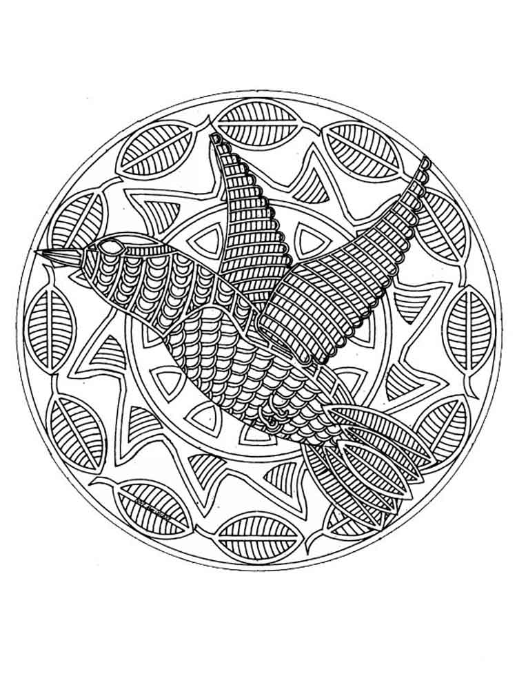 Animal mandala coloring pages for adult free printable for Animal mandala coloring pages printable