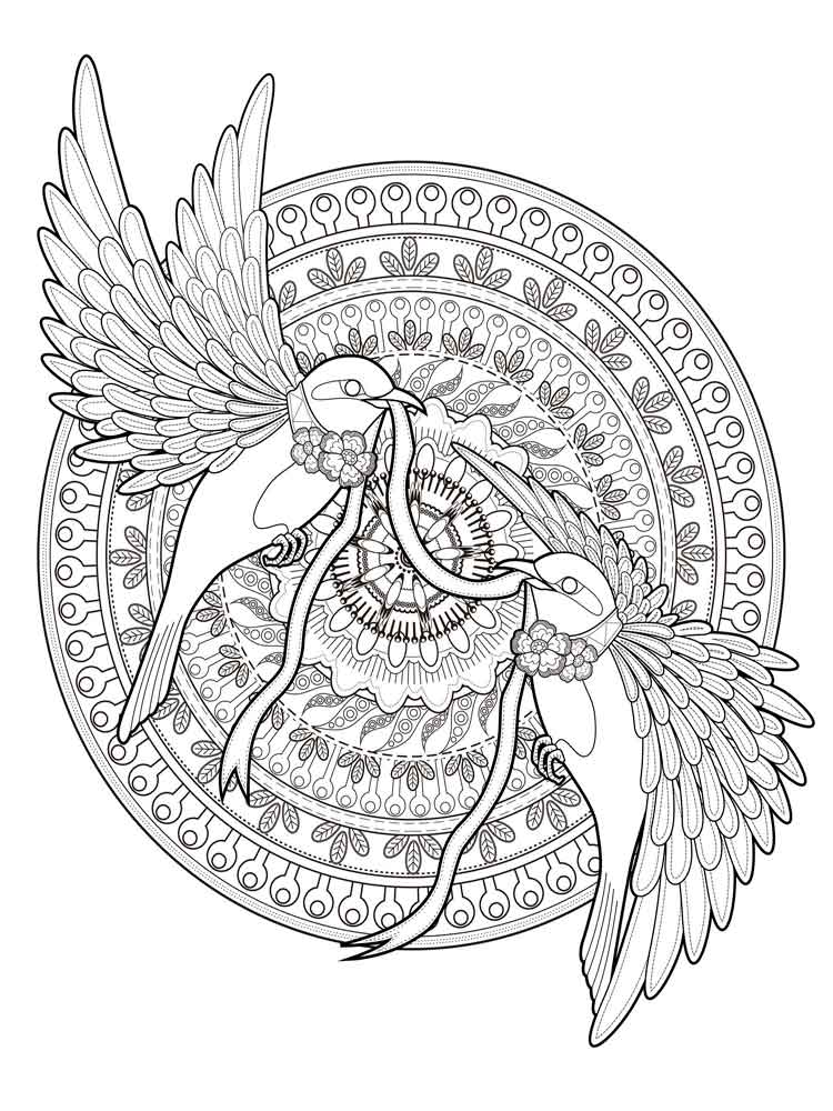 Animal Mandala Coloring Pages For Adult Free Printable Animal