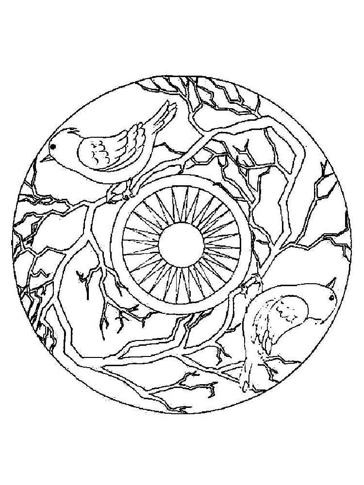 Animal mandala coloring pages for adult. Free Printable ...