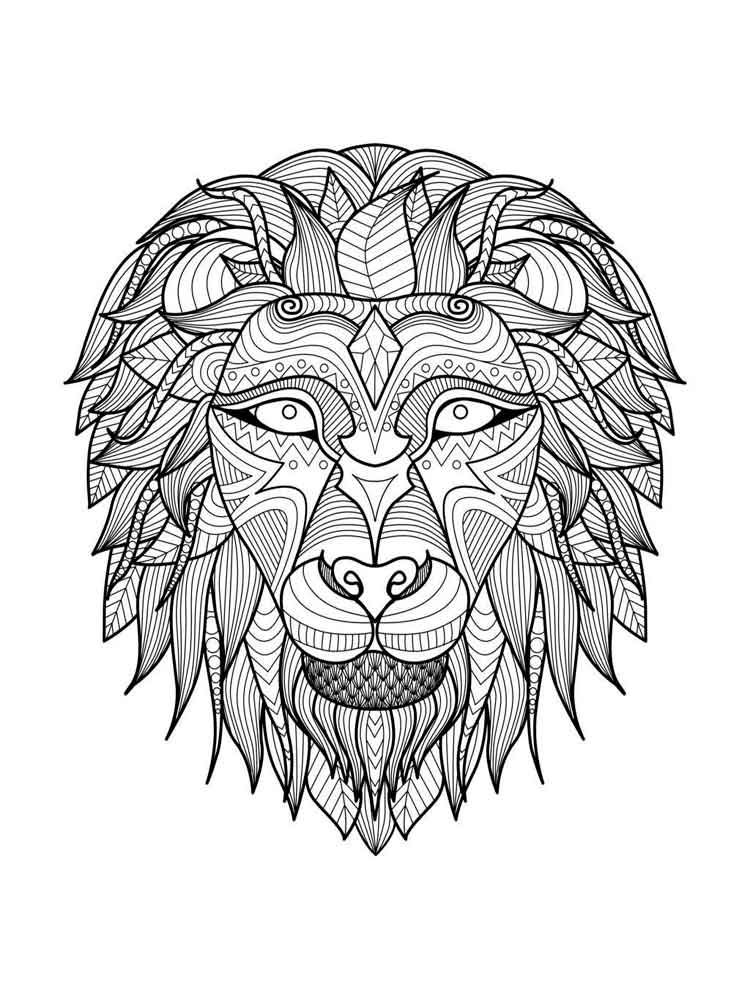 Adult Animal Mandala Coloring Pages 4