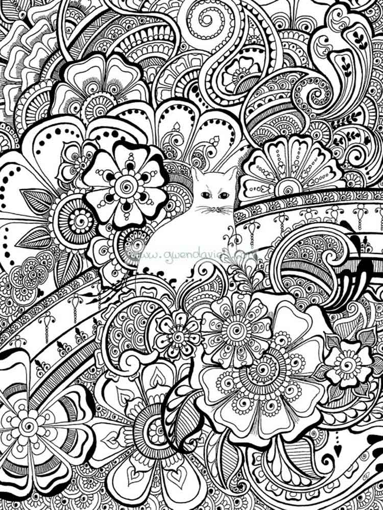 Art Therapy coloring pages for adults. Free Printable Art ...