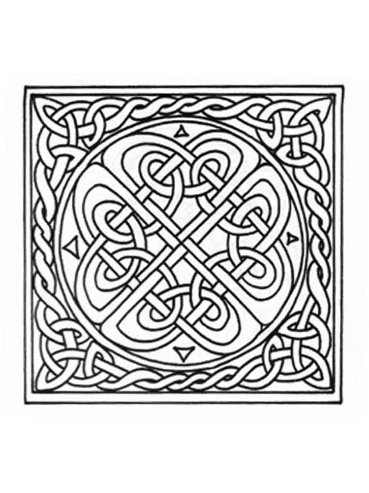 celtic knotwork coloring pages   Celtic Knot coloring pages for adults. Free Printable ...