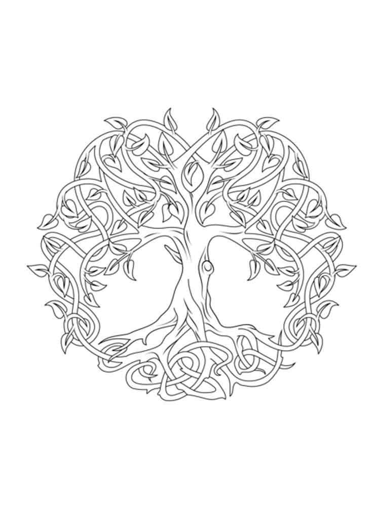 Celtic Knot Coloring Pages For Adults Free Printable
