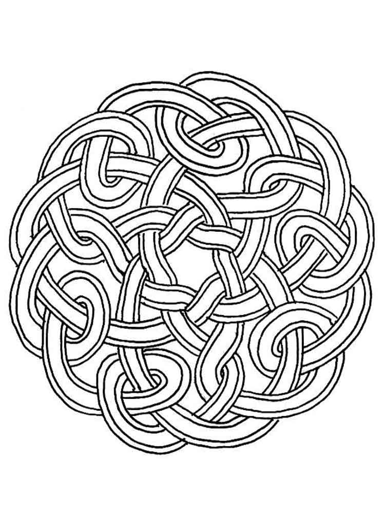Celtic Knot coloring pages for adults. Free Printable Celtic Knot ...