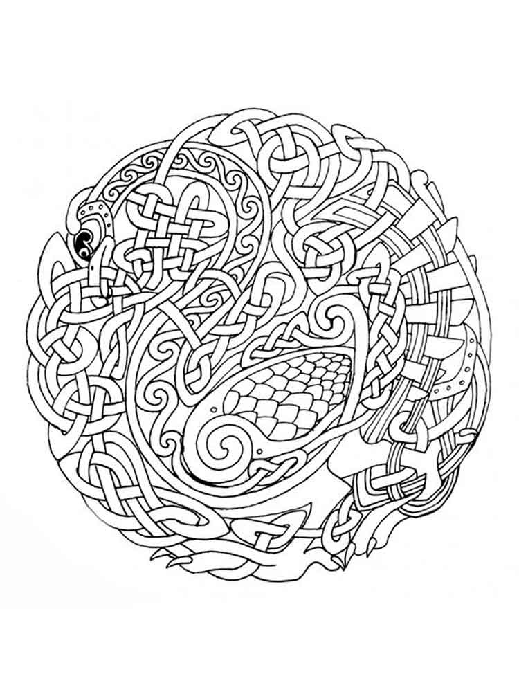 Celtic Knot Coloring Pages For Adults Free Printable Celtic Knot