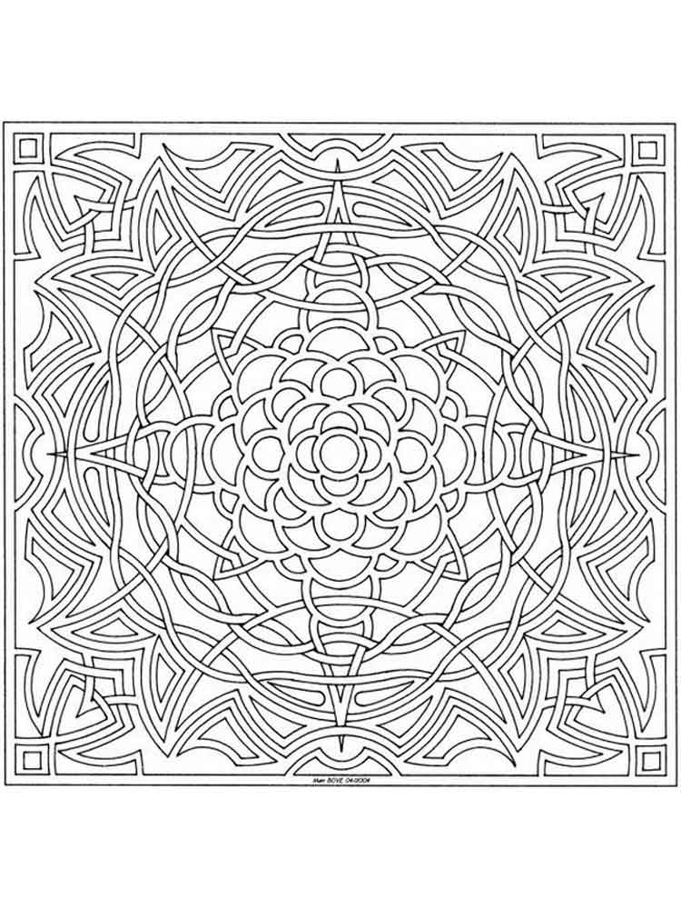 Celtic Knot coloring pages for adults Free Printable Celtic Knot coloring pages