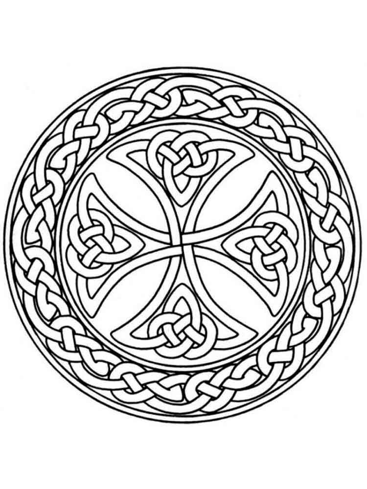 Celtic Knot coloring pages for adults. Free Printable ...