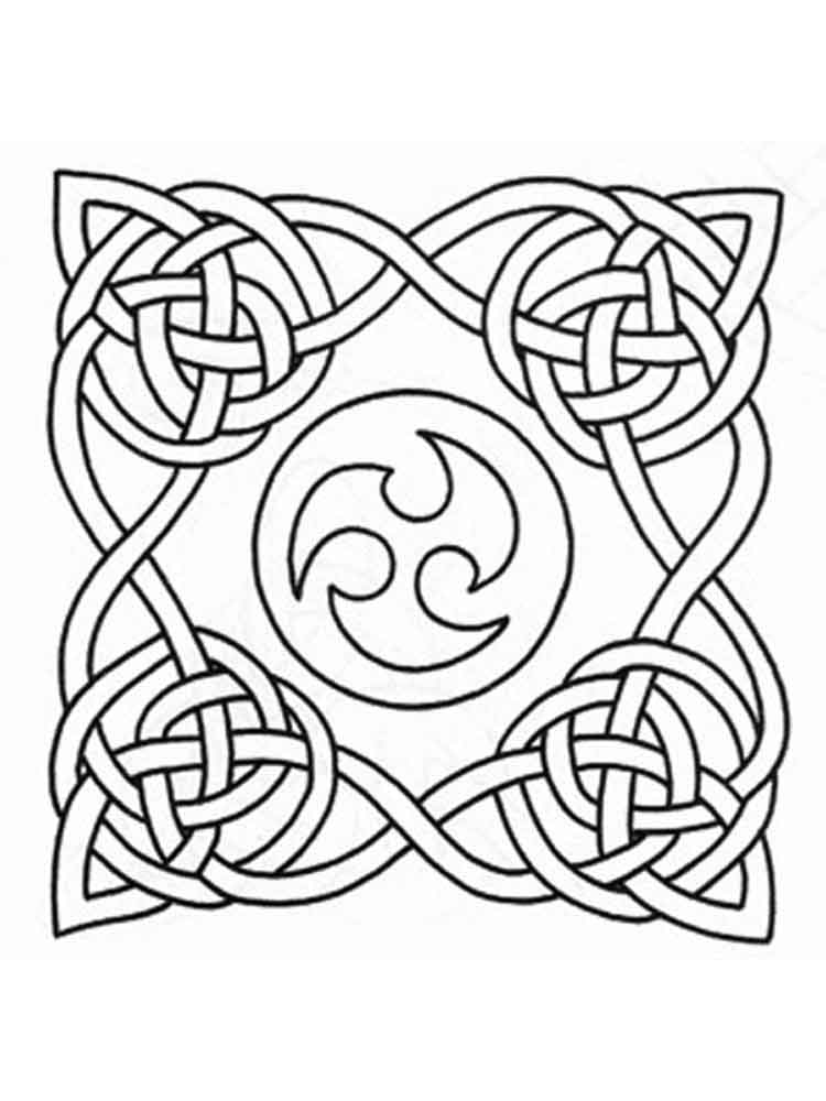 trinity knot page coloring pages