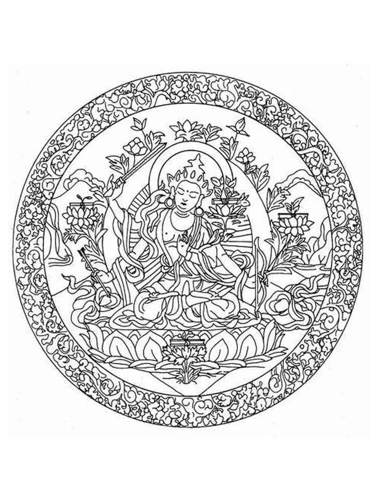 Chakra Mandalas coloring pages for adult Free Printable Chakra