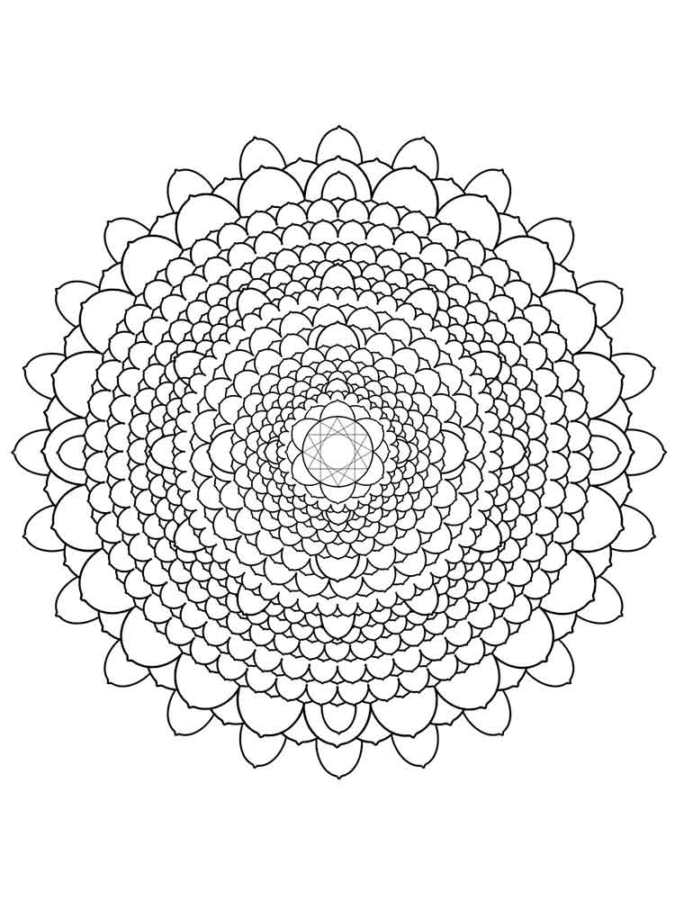 Chakra Mandalas coloring pages for adult Free Printable Chakra