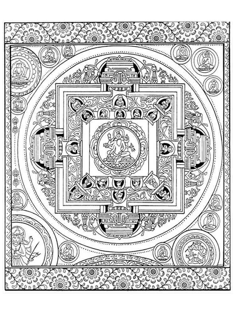 chakra mandala printable coloring pages - photo#30