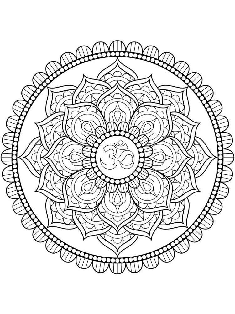 Chakra Mandalas Coloring Pages For Adult Free Printable