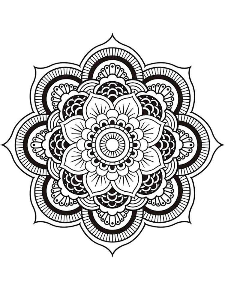 chakra mandala printable coloring pages - photo#42