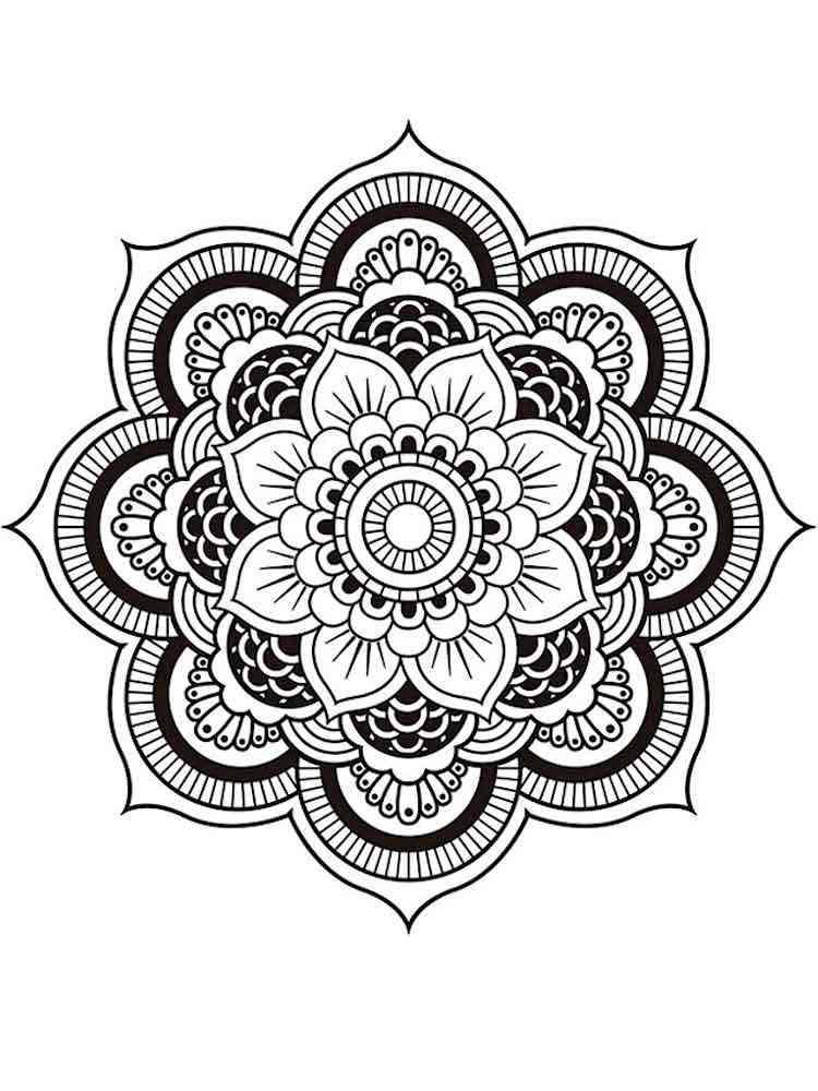 Chakra Mandalas coloring pages