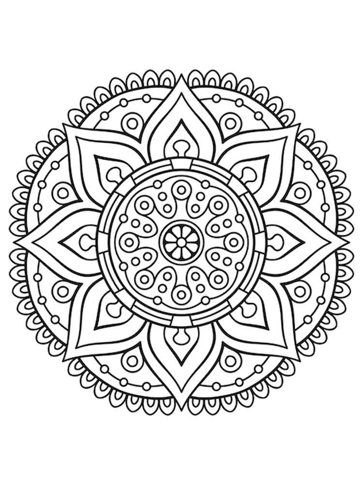 chakra mandala printable coloring pages - photo#19