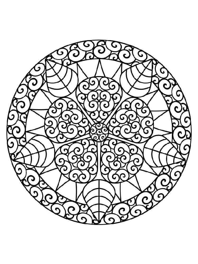 chakra mandala printable coloring pages - photo#14