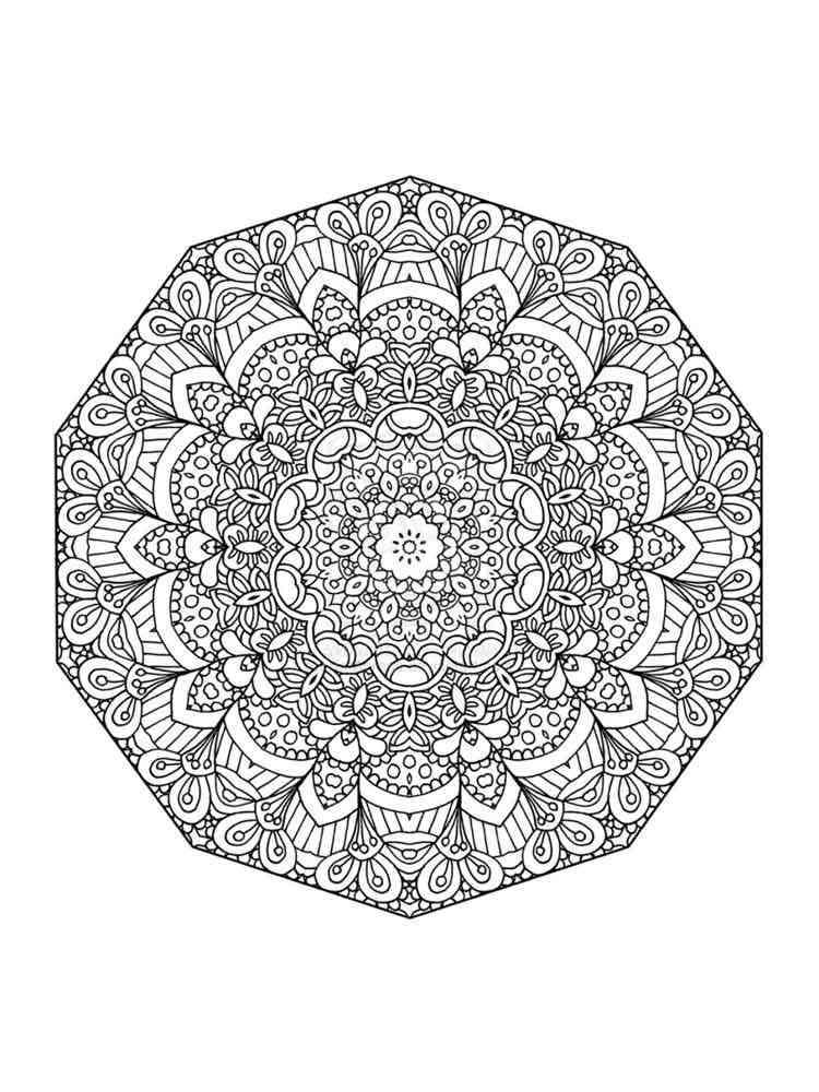 Chakra Mandalas coloring pages for adult. Free Printable ...