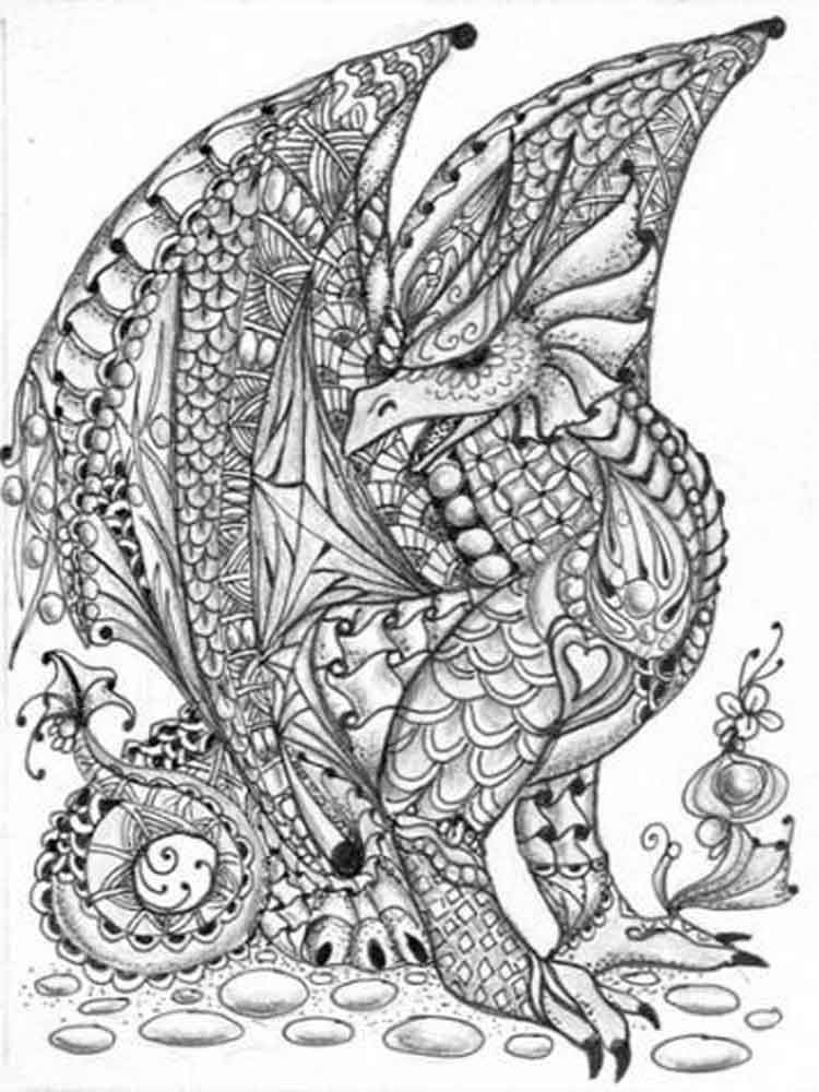 adult detailed coloring pages 14
