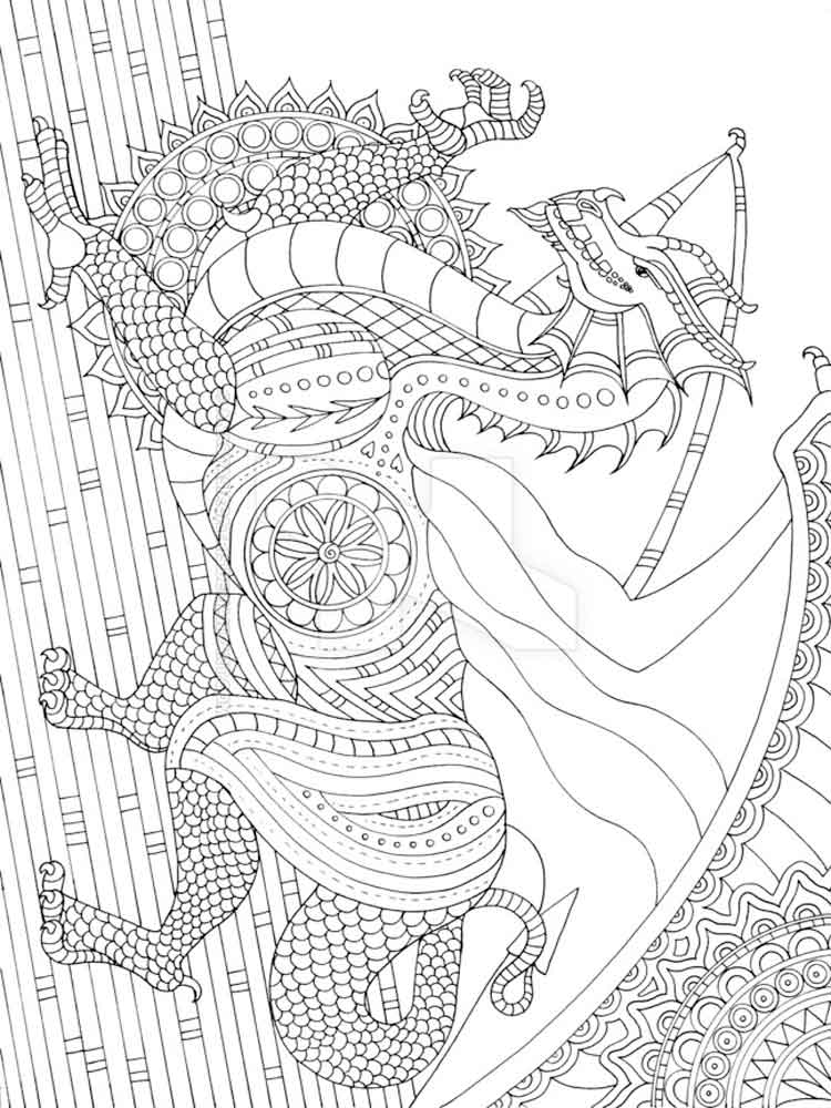 Detailed coloring pages for adults Free Printable Detailed coloring pages