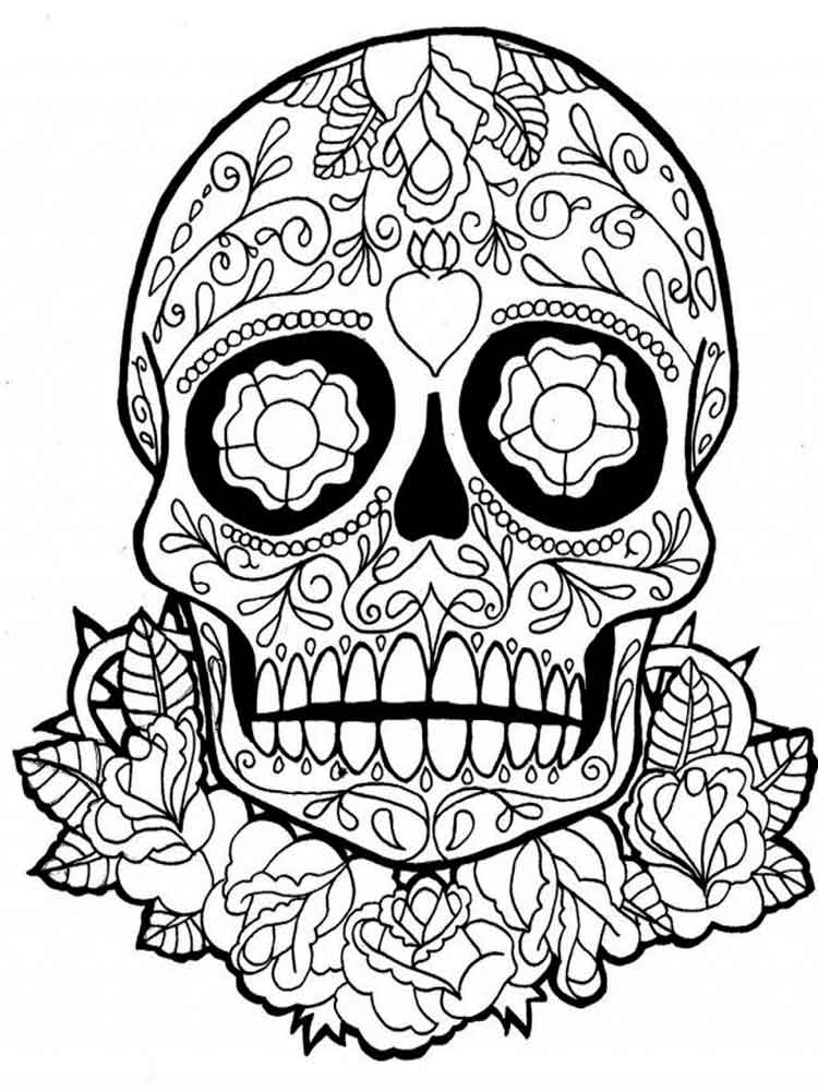 - Dia De Los Muertos Coloring Pages For Adults. Free Printable Dia De Los  Muertos Coloring Pages.