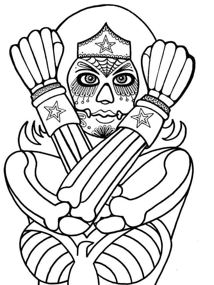 Dia De Los Muertos coloring pages for adults. Free ...