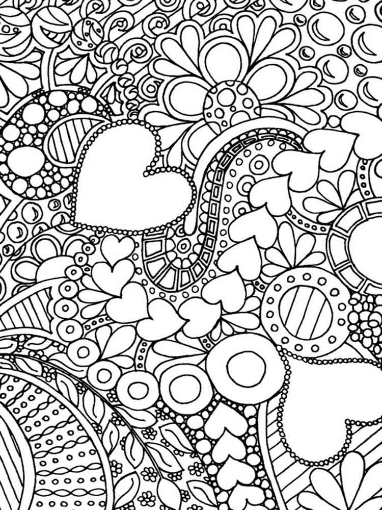 difficult coloring pages for adults 10 - Printable Difficult Coloring Pages