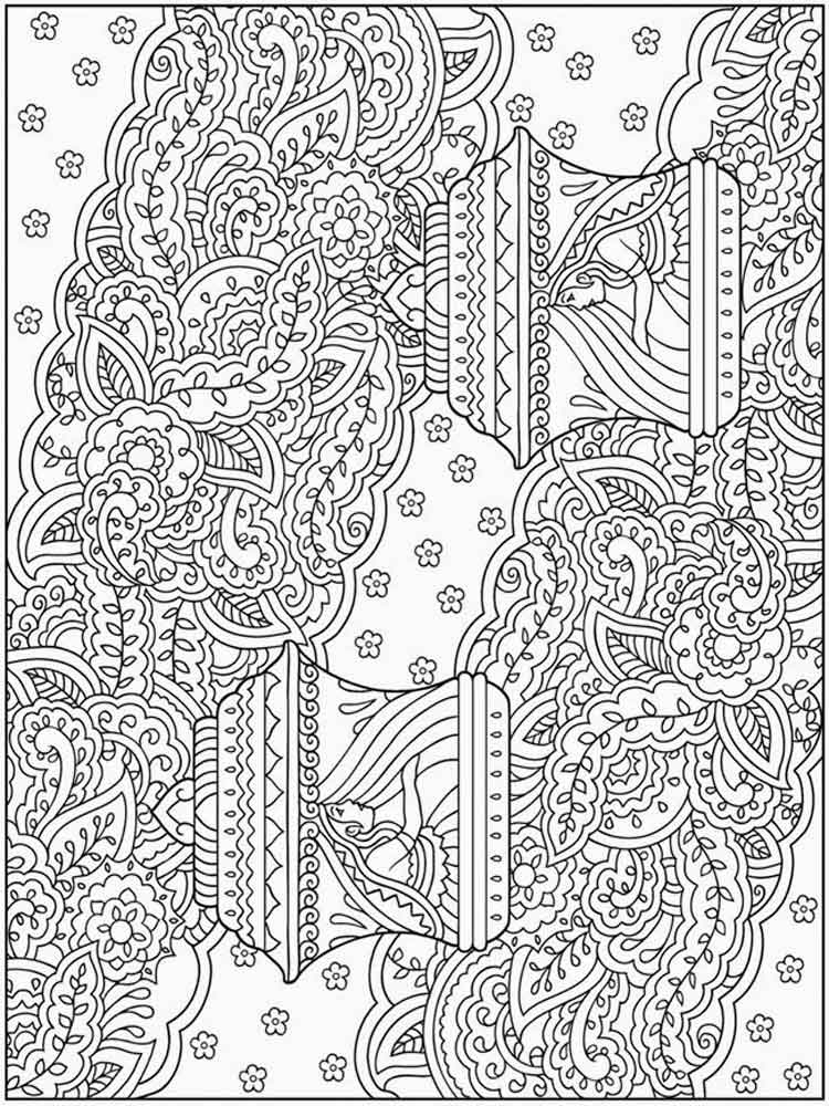 Difficult Coloring Pages For Adults Free Printable Difficult Coloring Pages