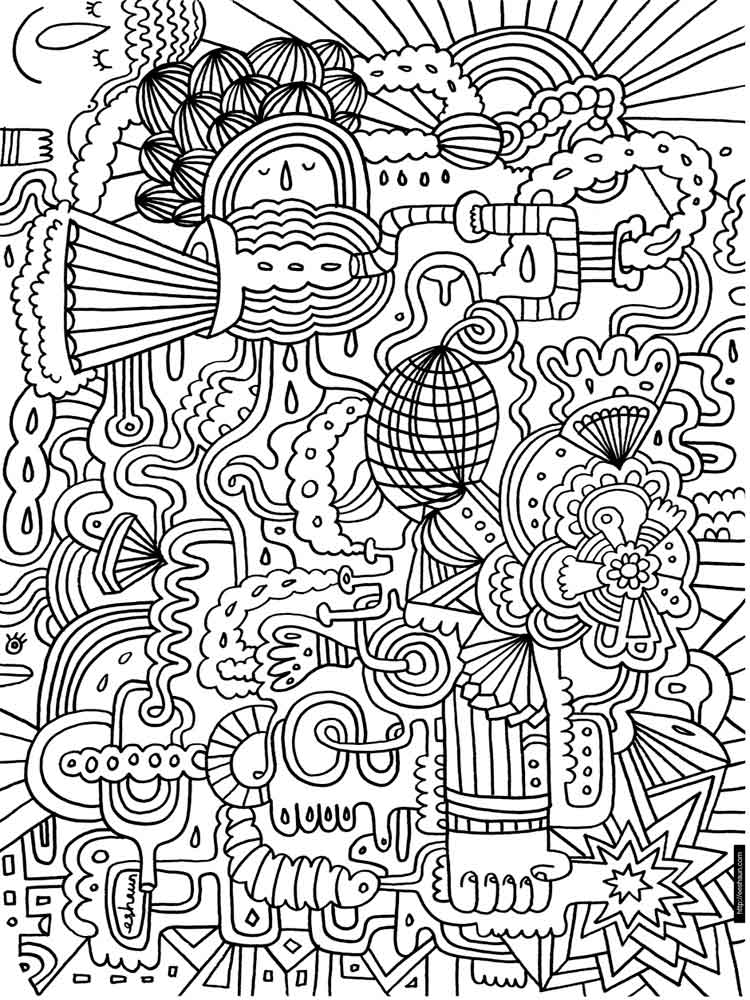 Difficult coloring pages for adults free printable - Coloriage therapie ...