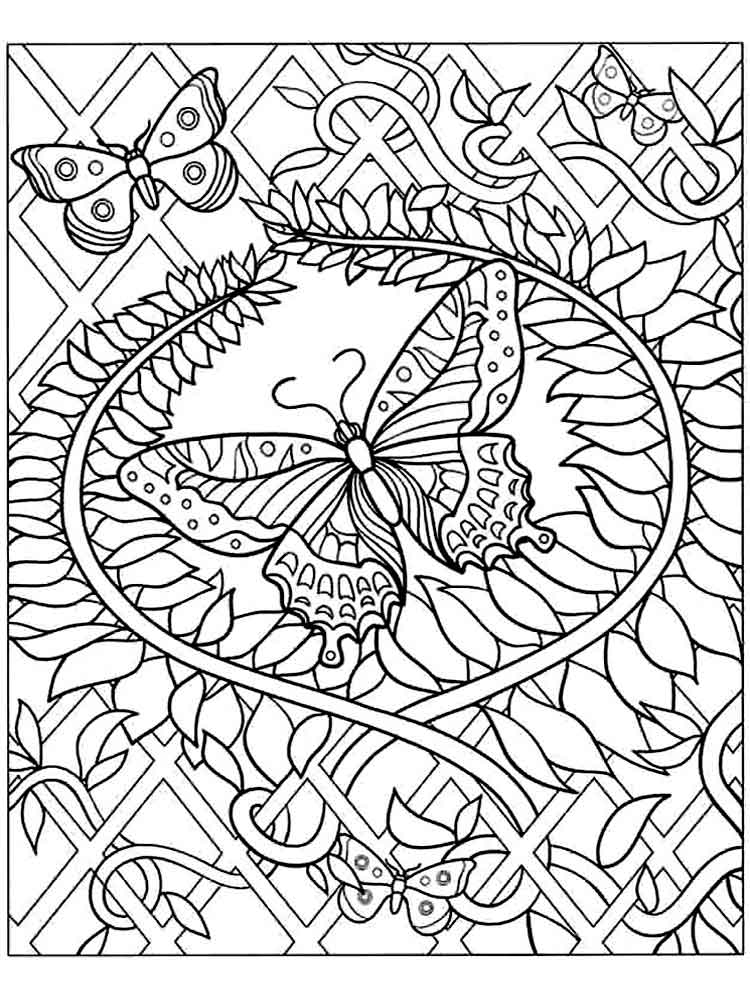 Difficult coloring pages for adults. Free Printable ...