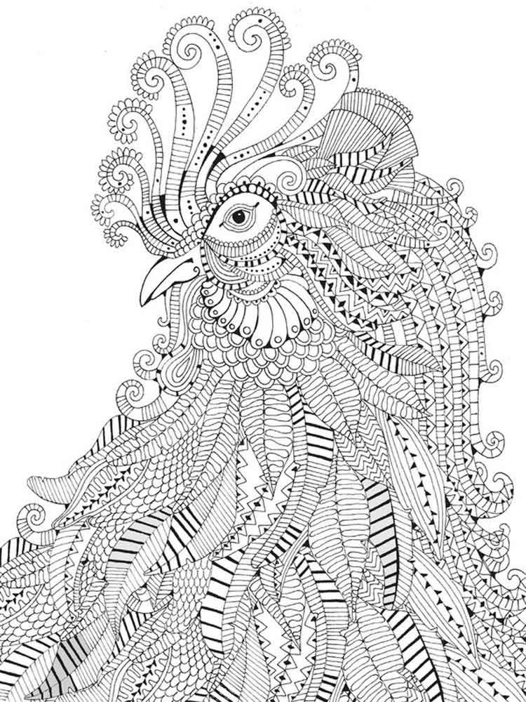Difficult Coloring Pages For Adults Free Printable