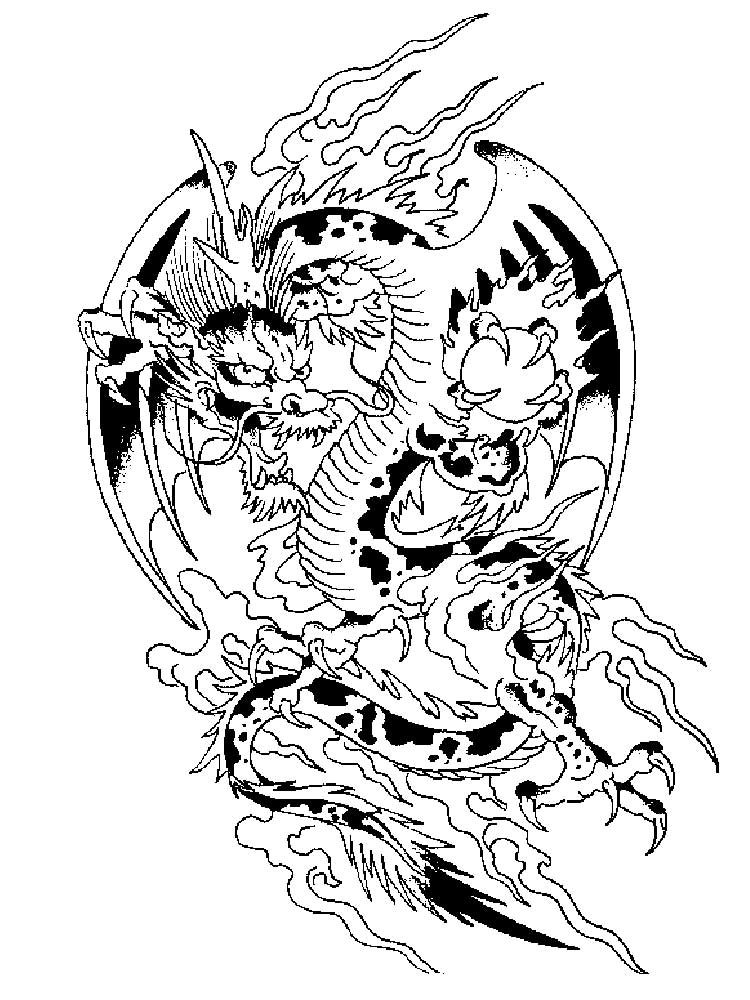 Free Dragon coloring pages for Adults. Printable to ...