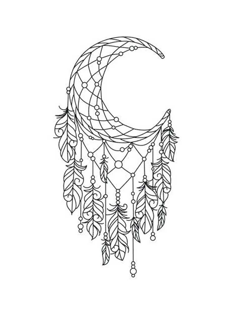 Free Dream Catcher coloring pages for Adults. Printable to ...