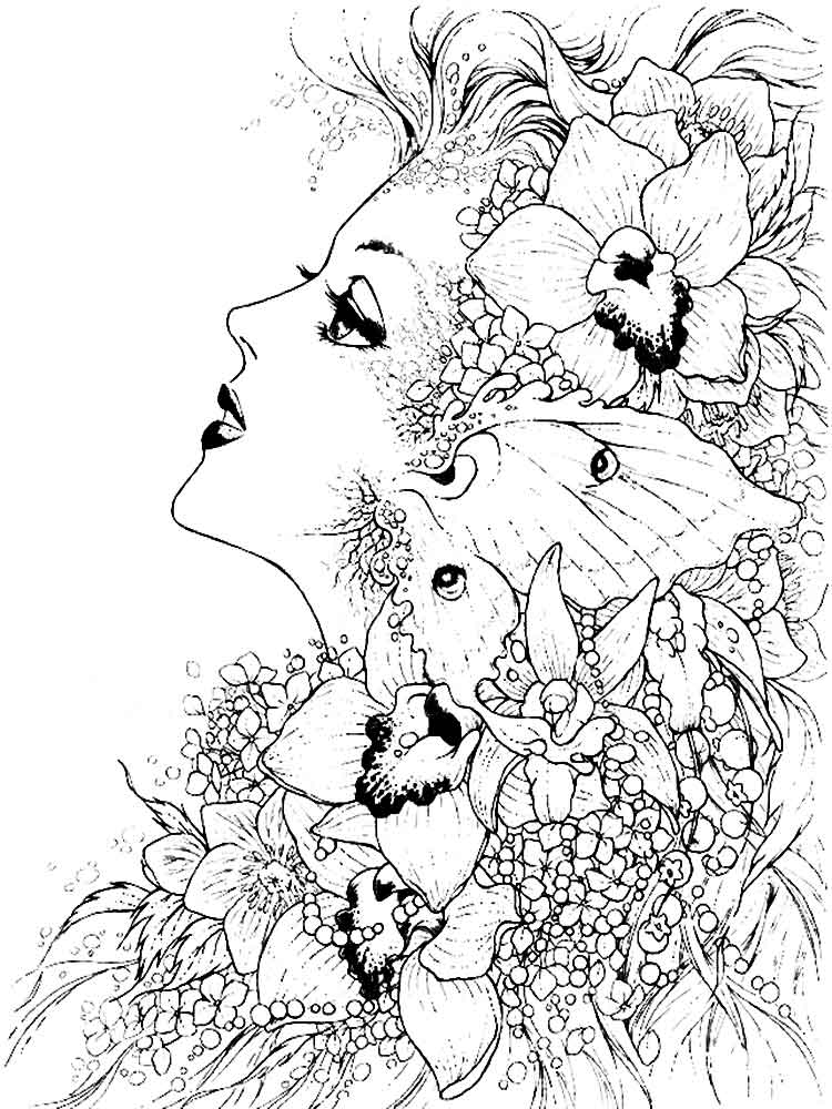 Fantasy coloring pages for adults. Free Printable Fantasy coloring ...