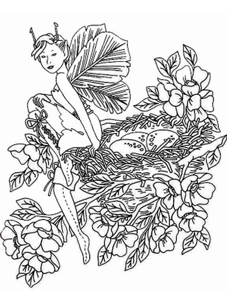 Fantasy coloring pages for adults free printable fantasy for Mythical coloring pages for adults