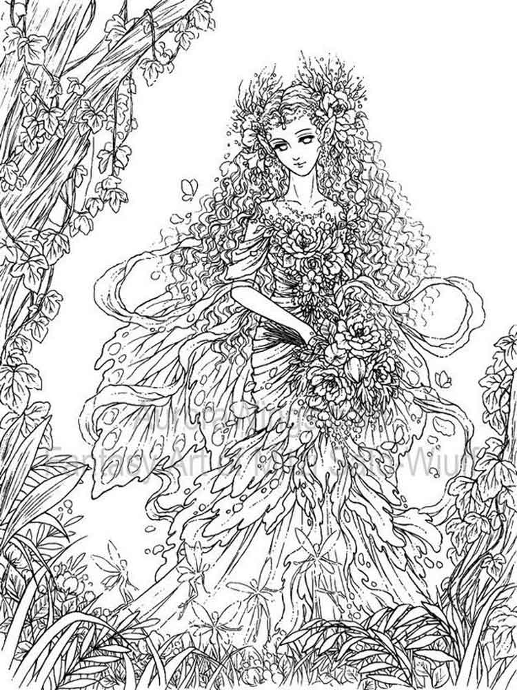 Fantasy coloring pages for adults free printable fantasy Coloring books for young adults
