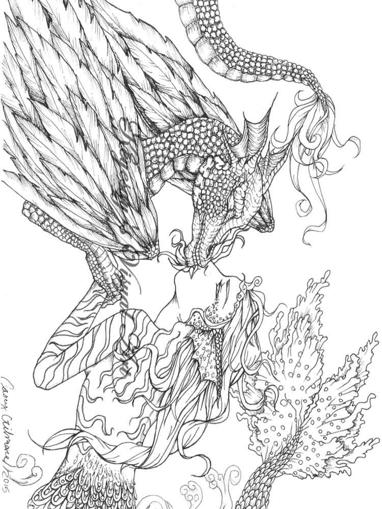 Fantasy coloring pages for adults. Free Printable Fantasy ...