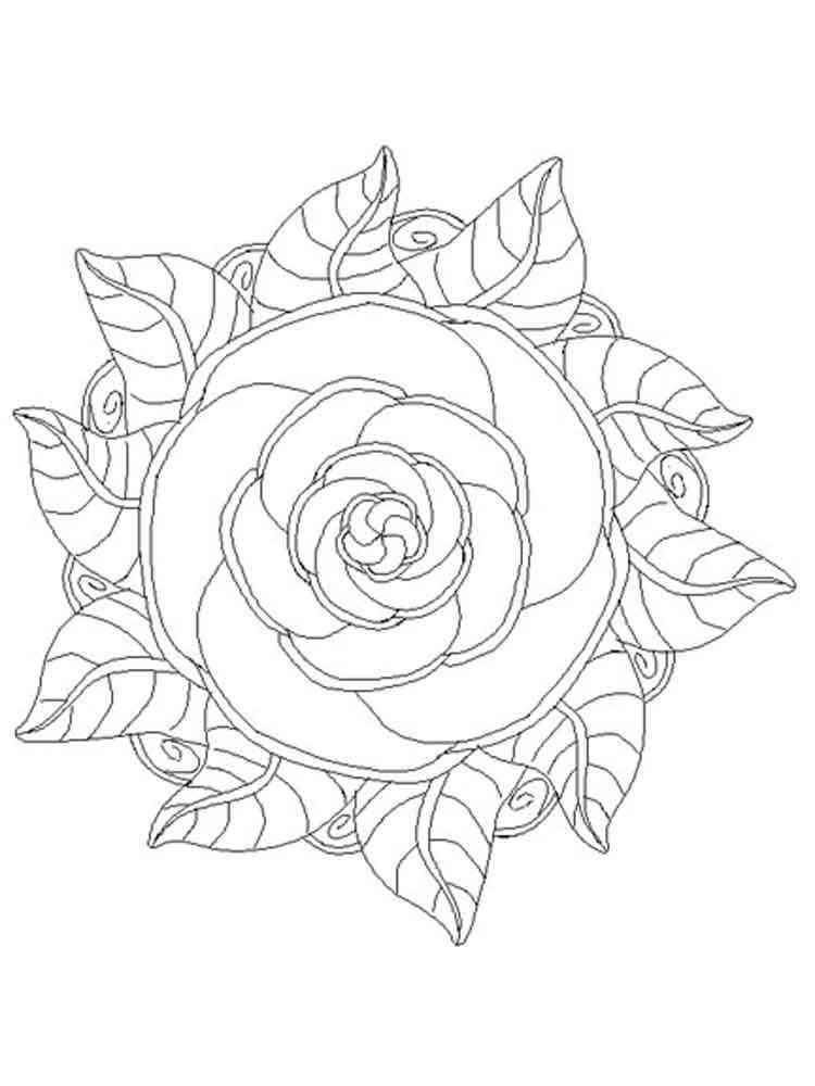 flower mandala coloring pages adult 1 - Mandalas Coloring Pages