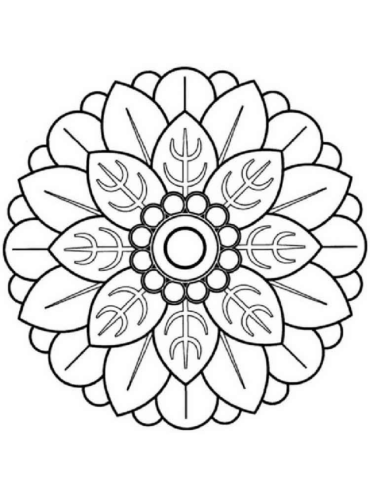 Flower mandala coloring pages for