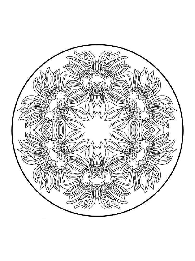 Flower Mandala Coloring Pages For Adults Free Printable