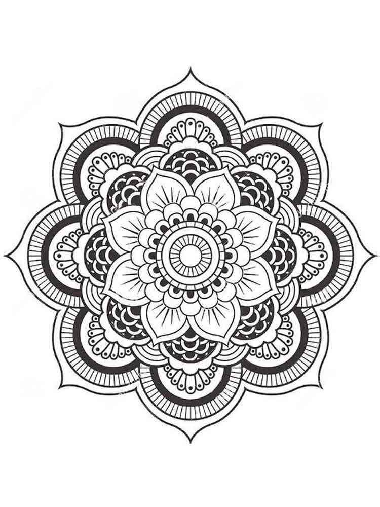 flower mandala coloring pages adult 4 - Mandala Coloring Books