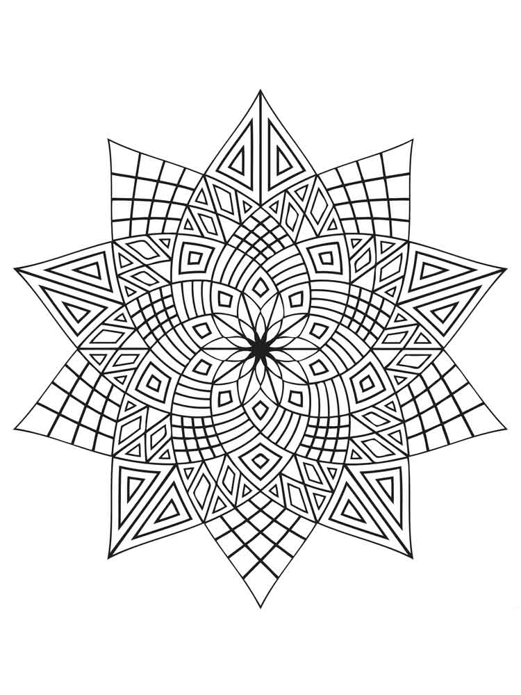 Geometric Design Coloring Pages Adult 10