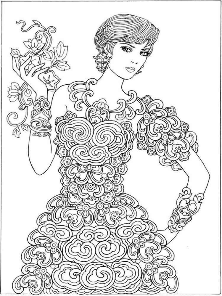 Grown Up coloring pages Free Printable