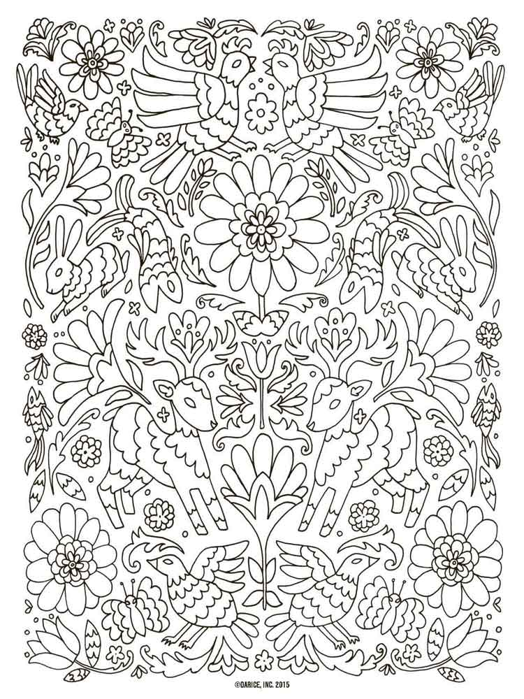 grown up coloring pages adult 14 - Grown Up Coloring